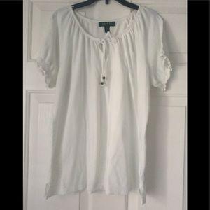 Lauren Ralph Lauren misses tee Shirt Sz 1X